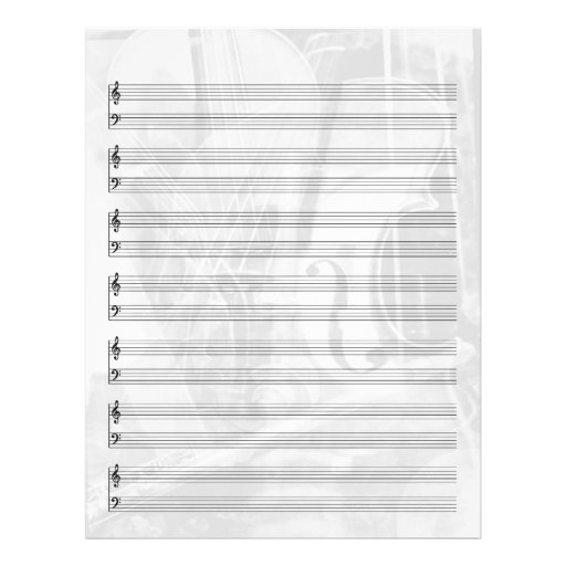 Instrument-Themenorientiertes Personal-Papier im S Personalisierte Flyer