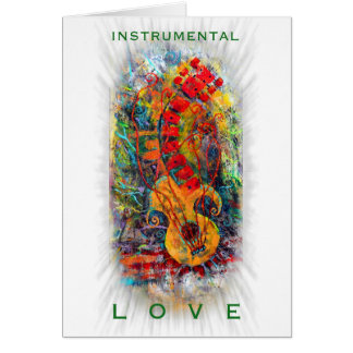 Instrumenteller Liebe-Entwurf #8 Grußkarte