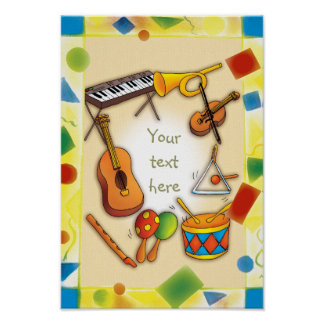 Instruments de musique - affiche