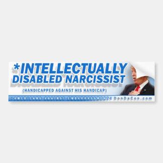 Intellektuell mit Behinderung Narcisist Autoaufkleber
