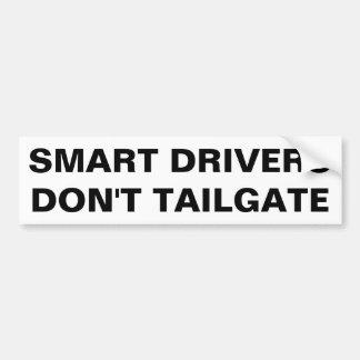 Intelligente Fahrer tun nicht Heckklappe. Autoaufkleber