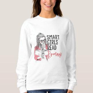 Intelligente Mädchen lasen Romance Sweatshirt