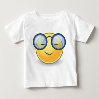 Intelligente orange smiley-Gläser Baby T-shirt