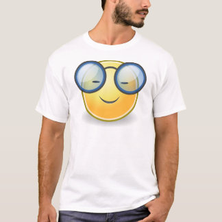 Intelligente orange smiley-Gläser T-Shirt