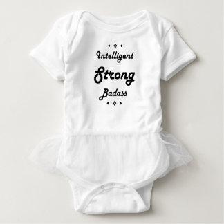 Intelligentes starkes Badass motivierend Baby Strampler