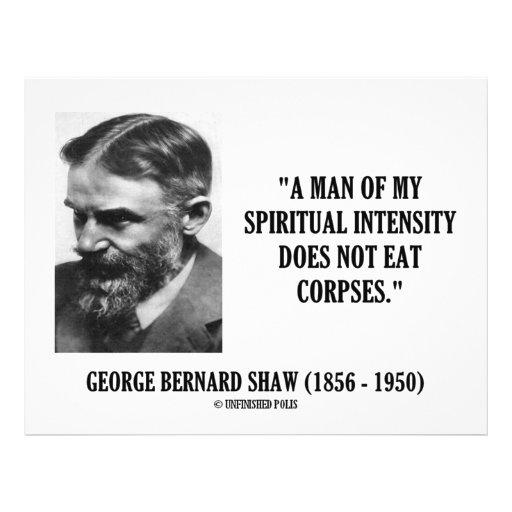 Intensität Georges B. Shaw Spiritual Leichen nicht Flyer Druck