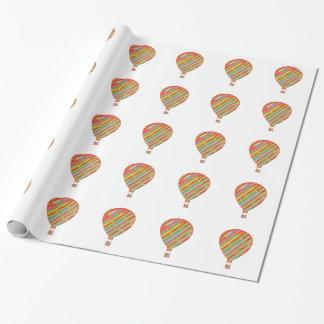 Intensive Farbkünstlerische Streifen-Ballone Geschenkpapier