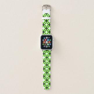 Intensives Rauten-Grün Apple Watch Armband