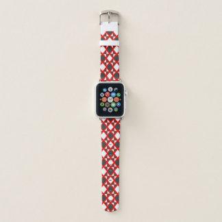 Intensives Rauten-Rot Apple Watch Armband