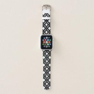 Intensives Rauten-Schwarzes Apple Watch Armband