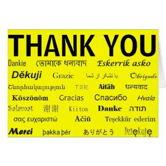 International danken Ihnen zu kardieren Grußkarte
