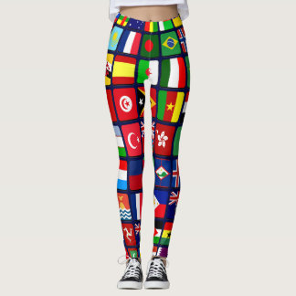 Internationale Flaggen Leggings