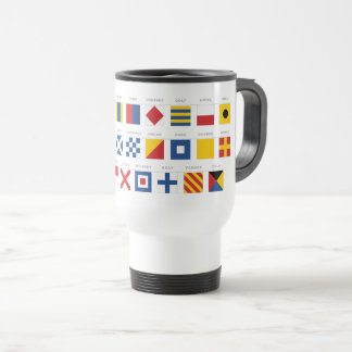 Internationaler Code des Signal-Alphabetes Reisebecher