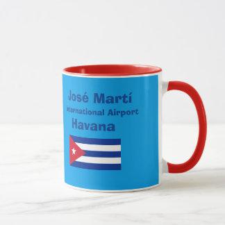 Internationaler Flughafen-Tasse Havanas Jose Marti Tasse
