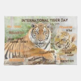 Internationaler Tiger-Tag am 29. Juli Handtuch