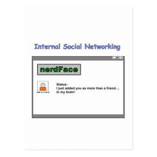 Interne Sozialvernetzung Postkarte