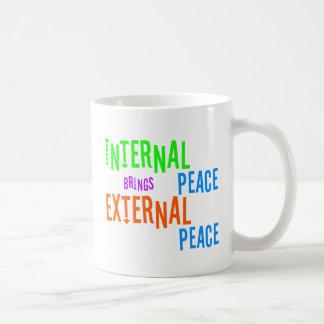 Interner Frieden holt externen Frieden Kaffeetasse