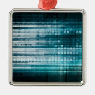 Internetanschluss und bewegliches Datenpaket Silbernes Ornament