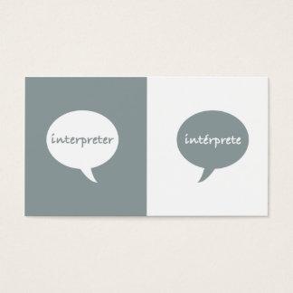 Interpret-Englisch-Spanisch Visitenkarte