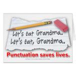 Interpunktion rettet die Leben Grußkarten
