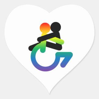 Intersectionality: Queer - mit Behinderung - Herz-Aufkleber