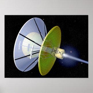 Interstellarer Raum-Handwerk Poster