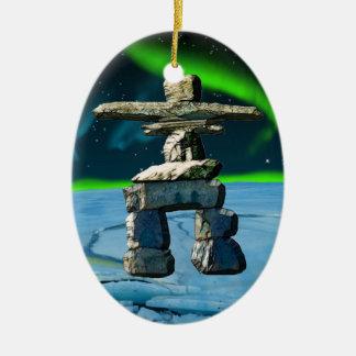 Inukshuk Ureinwohner-Geist-Steine Keramik Ornament