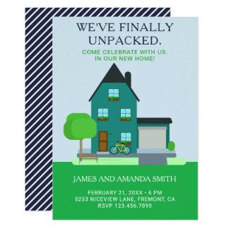 Invitation à la maison vert turquoise moderne de