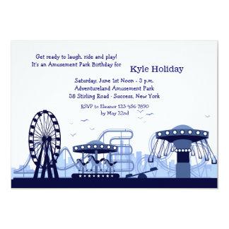 Invitation (bleue) de parc d'attractions