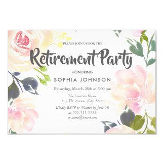 Invitation botanique de partie de retraite de rose