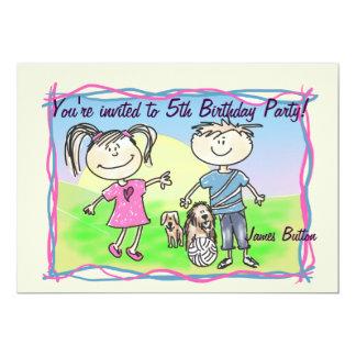 Invitation childparty de bande dessinée de