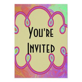 Invitation coloré de partie d'amusement