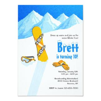 Invitation d'amusement d'hiver de surf des neiges