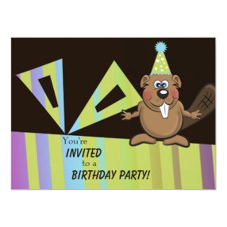 invitation d'anniversaire de castor