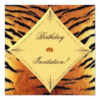 Invitation d'anniversaire de conception de tigre
