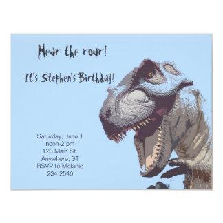 Invitation d'anniversaire de dinosaure de T-Rex
