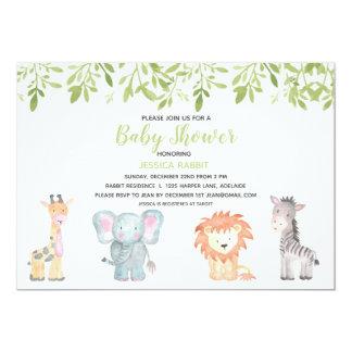 Invitation de baby shower de jungle