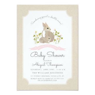 Invitation de baby shower de lapin