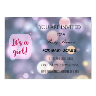 Invitation de baby shower pour une fille