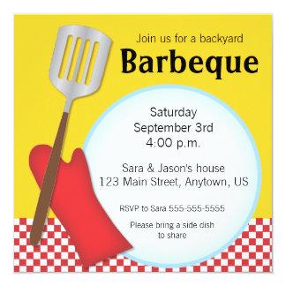 Invitation de barbecue de jardin