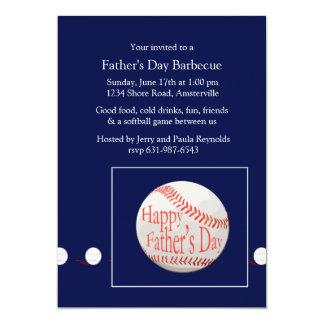 Invitation de base-ball de fête des pères carton d'invitation  12,7 cm x 17,78 cm