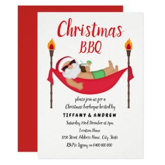 Invitation de BBQ de barbecue de Noël d'été