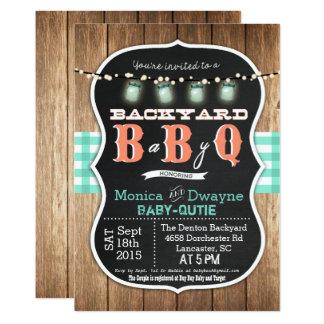 Invitation de BBQ de douche de couples du bébé Q