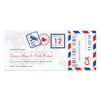 Invitation de billet de par avion de carte