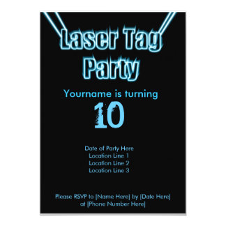 Invitation de bleu de partie d'étiquette de laser