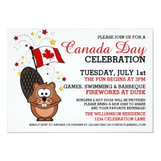 Invitation de célébration de jour du Canada
