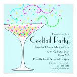 Invitation de cocktail de confettis