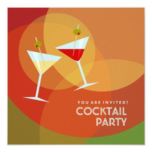 Invitation de cocktail carton d'invitation  13,33 cm