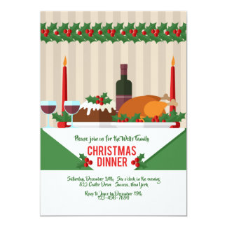 Invitation de dîner de Noël