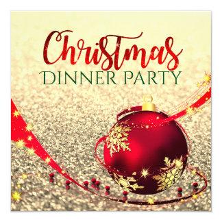 Invitation de dîner de Noël de parties